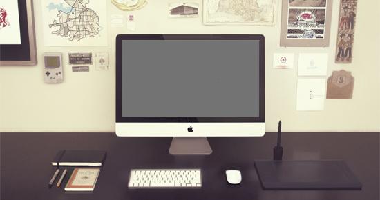 モックアップ用iMac