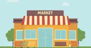 市場の建物