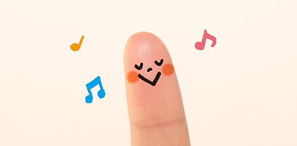 かわいい指