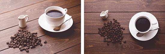 コーヒー豆と淹れたてコーヒー